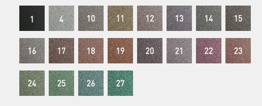 barevné odstíny barev na kov