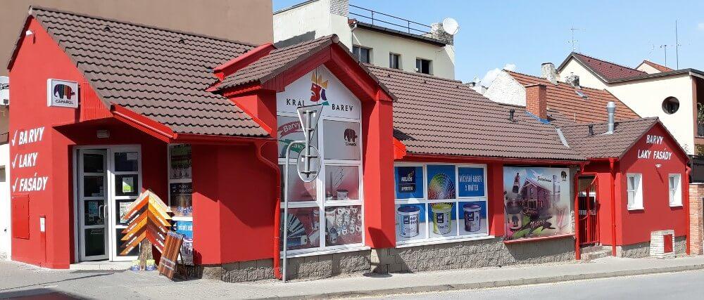 Prodejna laků a fasád s názvem Král barev na adrese Florinská 238, Kladno